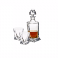 Quadro Decanter 500ml & 4 Glass Set | Solavia Fine Glassware